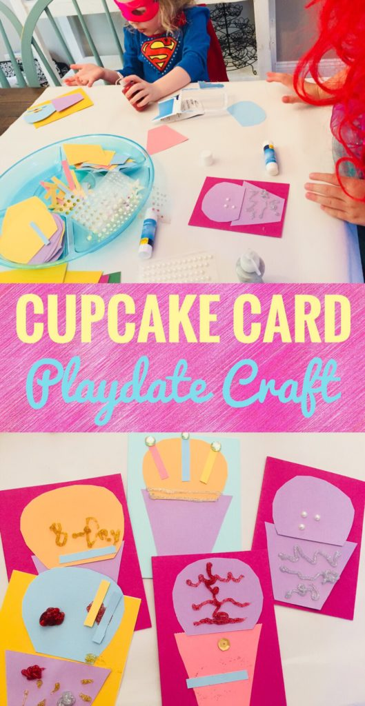 This Cupcake Card Playdate Craft is so cute and fun! Let the kids make their own birthday cards together. It would be a fun party craft too!