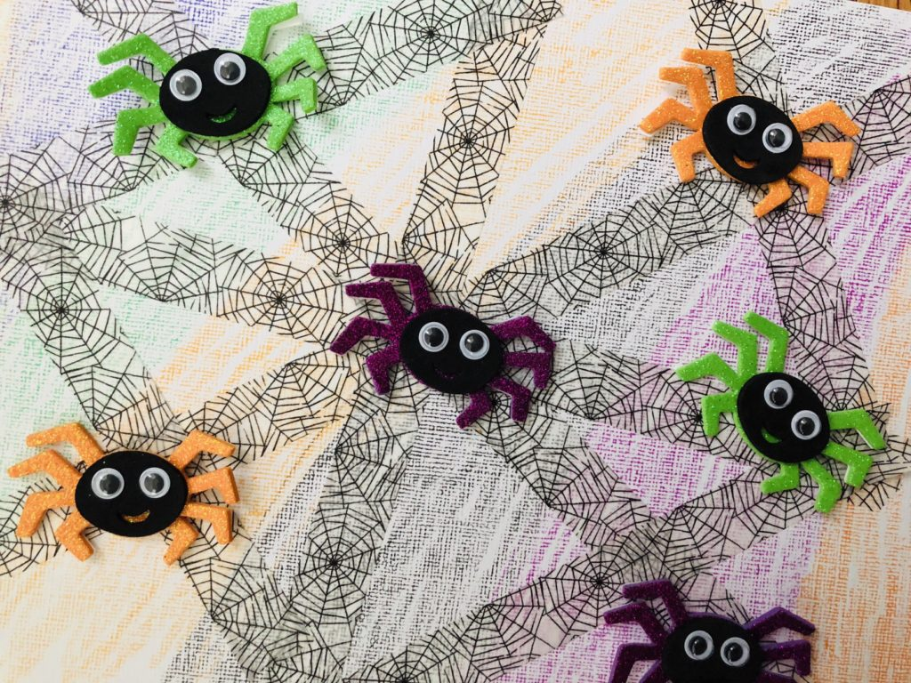 Washi Tape Spider Halloween Craft