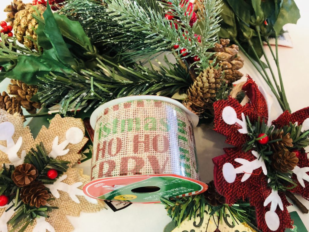 Dollar Tree Christmas Wreath Supplies