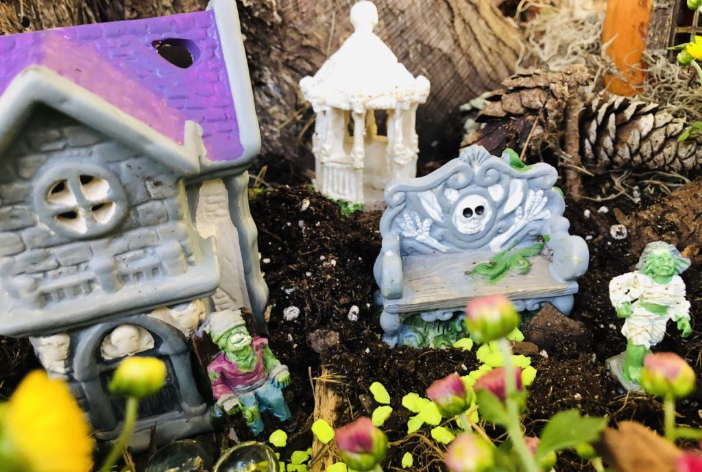 Creating Spooky Fall Fairy Garden