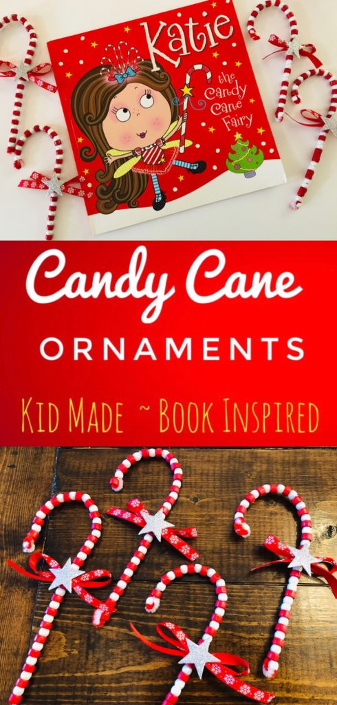 Beaded Candy Cane Kid-Made Ornaments