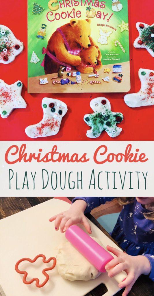 Christmas Cookie Play Dough Activity - Fun Holiday Activity based on the book Christmas Cookie Day! Great recipe for Christmas Cookie Play Dough.