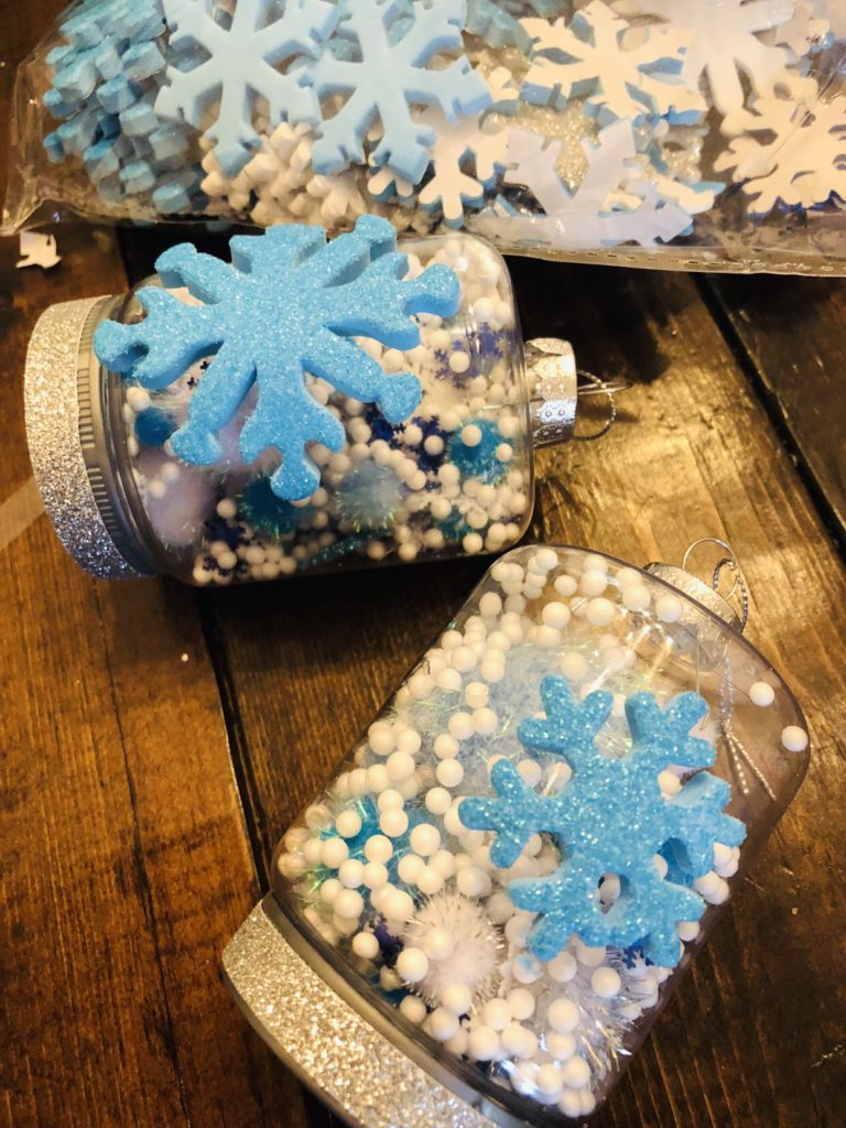 Glittery Snow Globe Ornaments