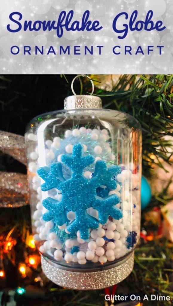 Glittery Snow Globe Ornaments