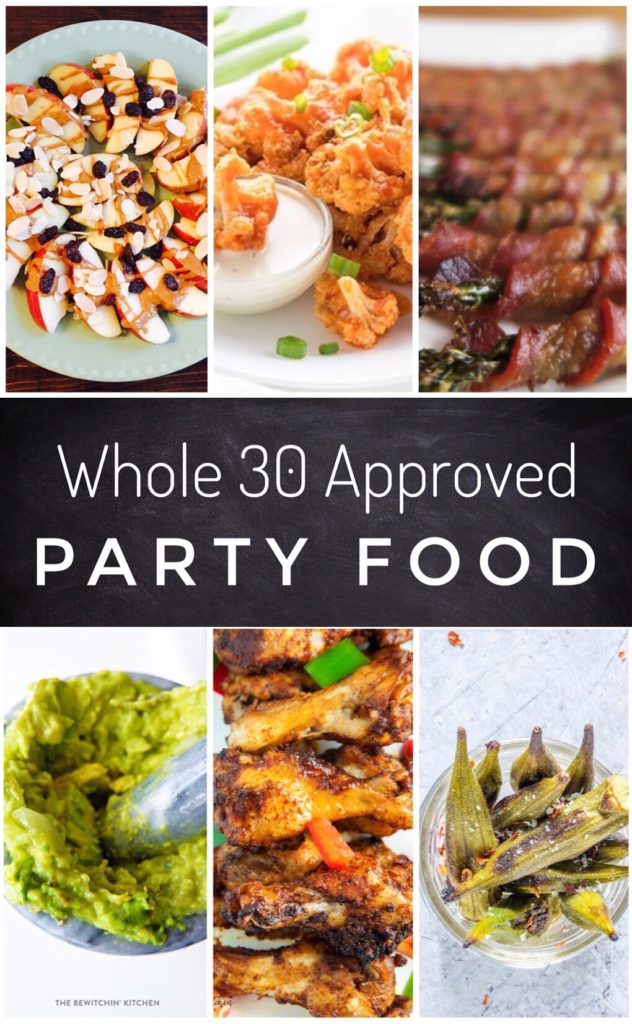 Whole 30 Approved Party Food - Survive the holidays with these awesome recipes. They are perfect Whole 30 recipes for parties, brunches or tailgating.
