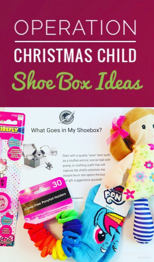 Operation Christmas Child Shoe Box Ideas - OCC Collection Week is coming up. Check out the fun items we found at Dollar Tree for our shoeboxes.