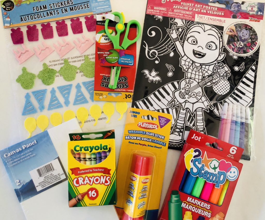 Dollar Tree Arts and Crafts Gift Basket for Kids