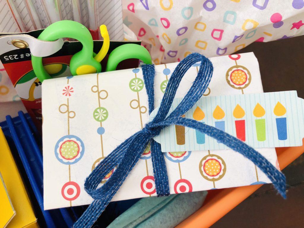 Birthday Gift Basket Gift Card Holder