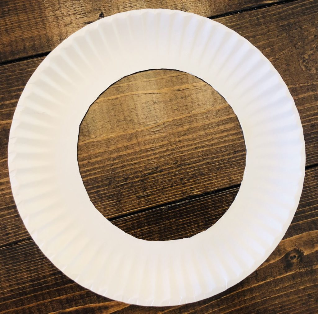 Paper Plate Wreath Craft