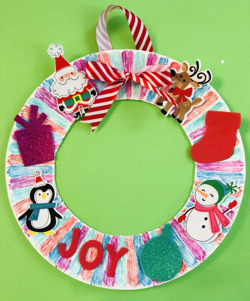 Paper Plate Christmas Wreath Craft - Glitter On A Dime