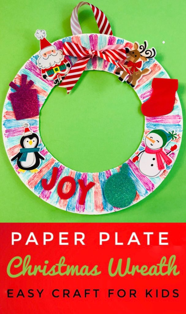 Easy Paper Plate Christmas Wreaths are the perfect craft for holiday class parties! So simple and mess free for preschoolers and kids of all ages!