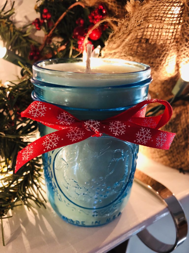 Christmas Cookie Mason Jar Candles