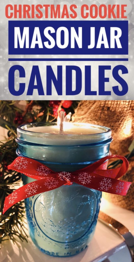 Christmas Cookie Mason Jar Candles are super easy to make and would be great gifts this holiday season!
