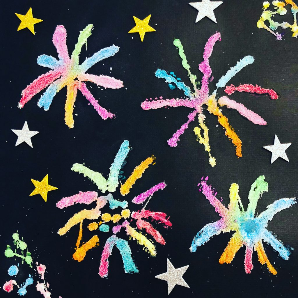 Fireworks Salt Painting