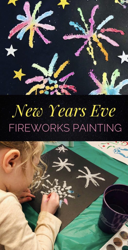 Fireworks Salt Painting - Fun Activity to do with the kids for New Year's Eve!