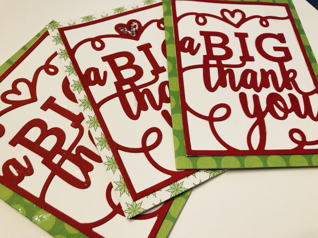 Quick Holiday Thank You Cards