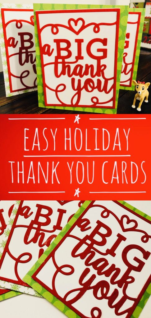 Easy Holiday Thank You Cards