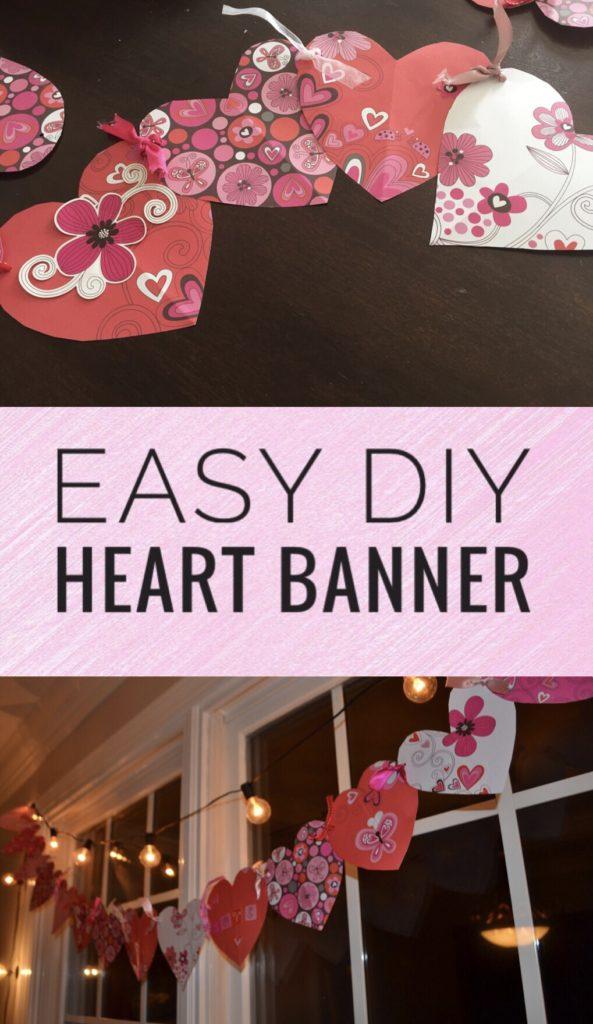 Easy DIY Heart Banner