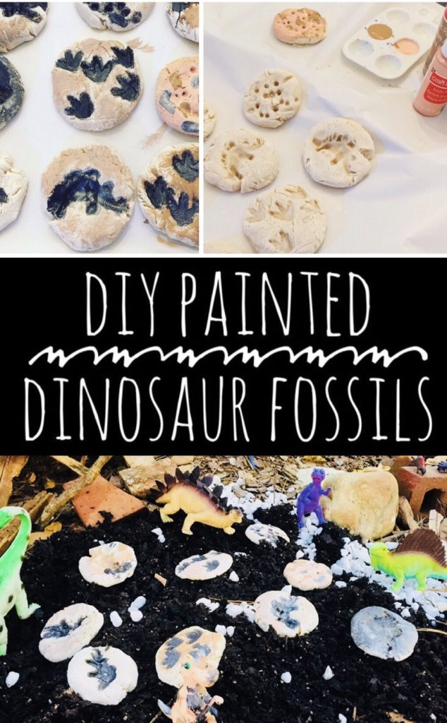 DIY Painted Dinosaur Fossils Craft for Kids