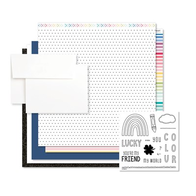 You Color My World Cardmaking Kit