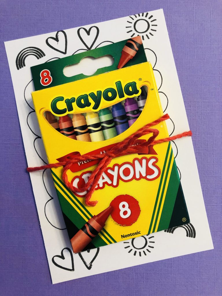 You Color My World Party Favor