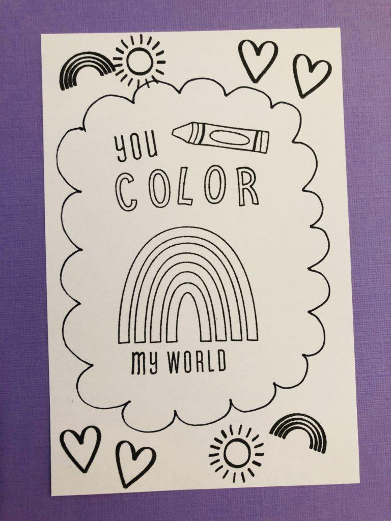 Valentine Coloring Sheet