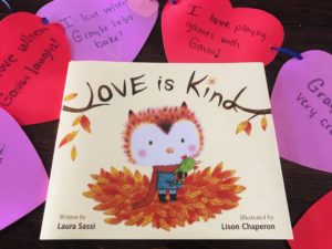 Valentine Book Inspired Craft for Siblings - Heart Banner Kindness Activity