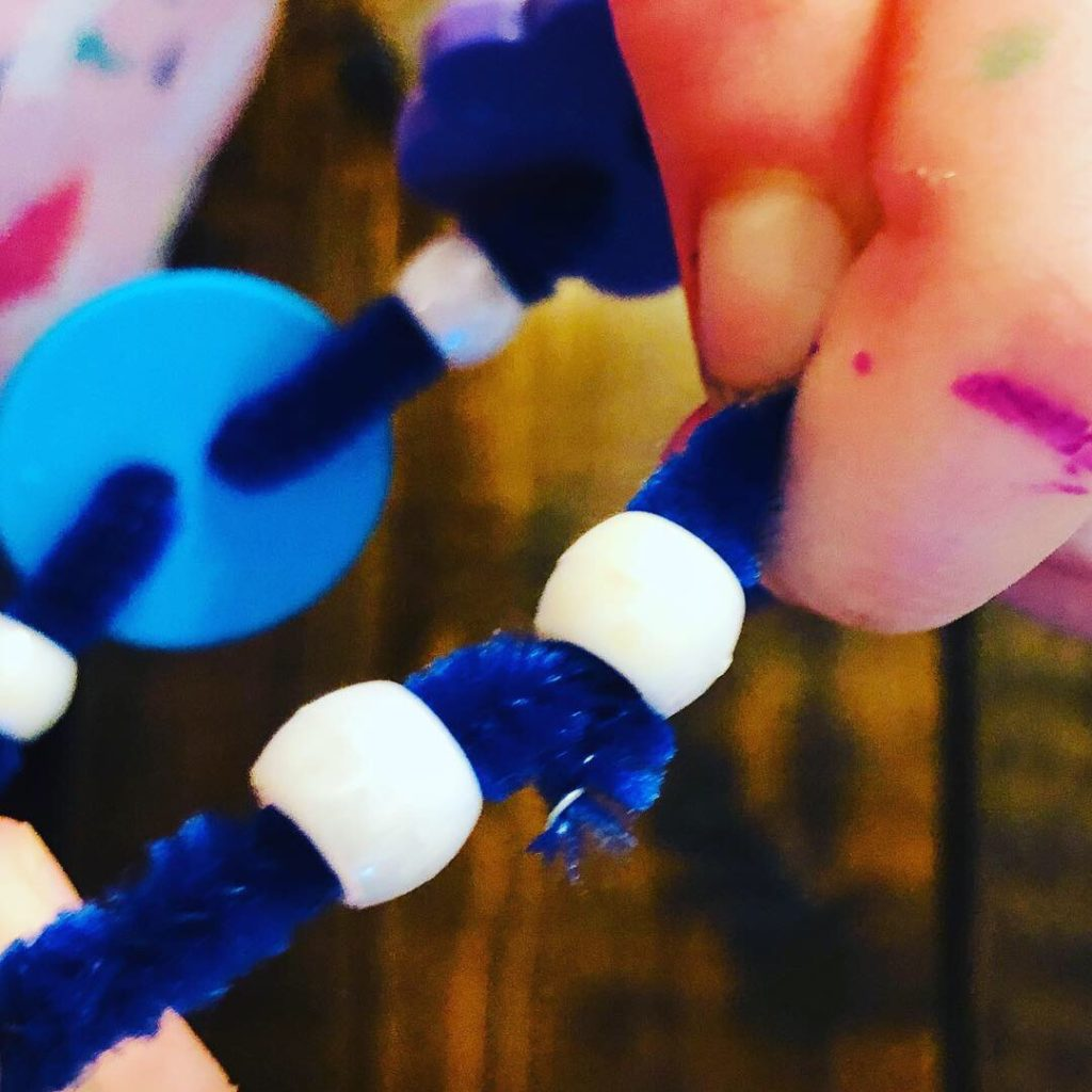 Bead and Button Pipe Cleaner Bracelets