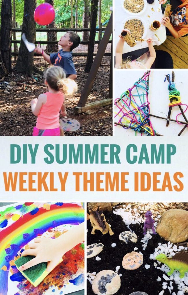 DIY Summer Camp Weekly Themes - Find great activities and crafts to help keep the kids busy and screen free this summer!
