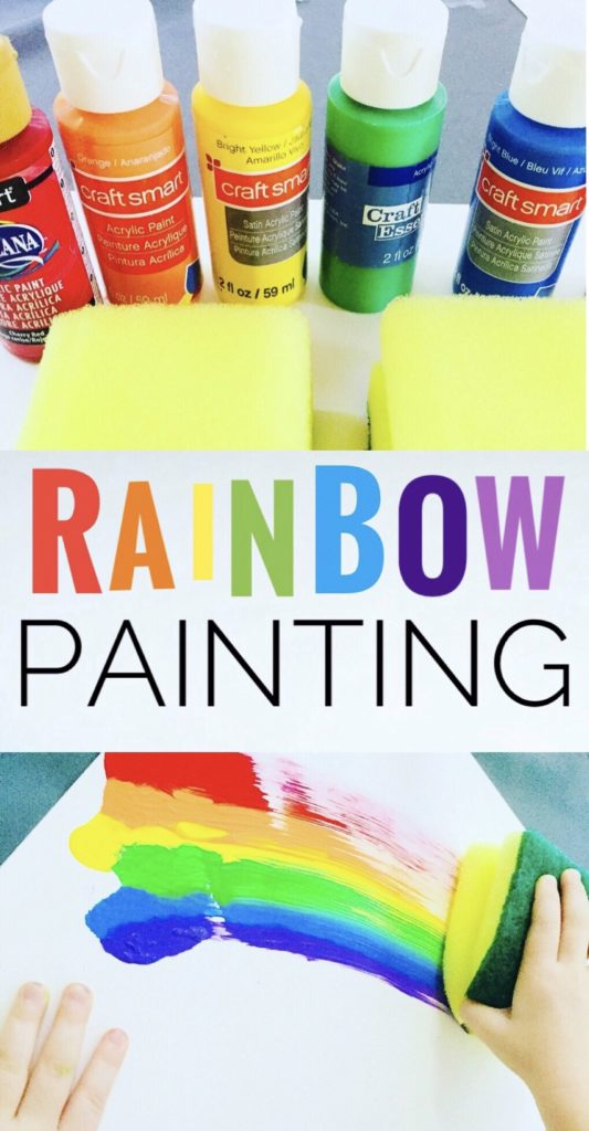 Rainbow Painting Kids Craft - Great art project for spring or summer!