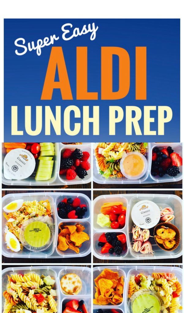 Easy Aldi Lunch Prep Ideas - Make your week go smoother by having lunches ready to go! These bento boxes make it fun to organize and prep meals.