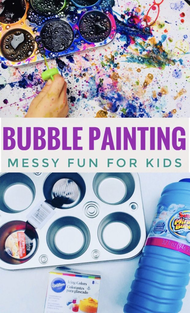Bubbly Painting - Fun Art Project and Activity for Spring or Summer! Great for preschoolers!