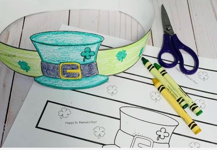 Coloring Leprechaun Hat
