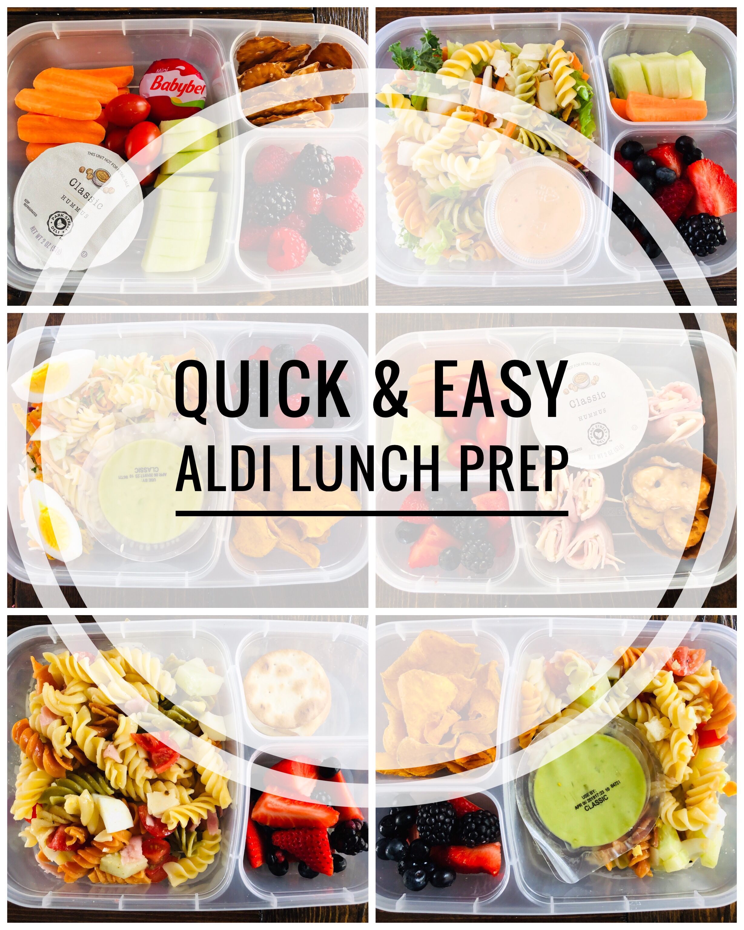 Easy Aldi Lunch Prep - Make Ahead Cold Lunches - Glitter On