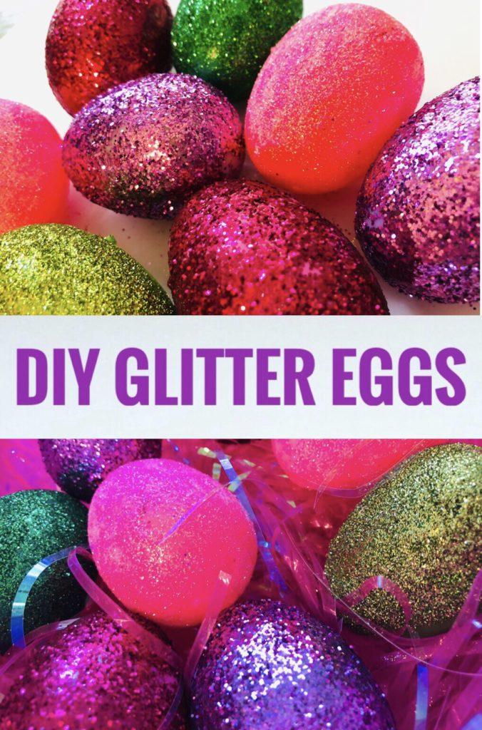 DIY Plastic Glitter Eggs