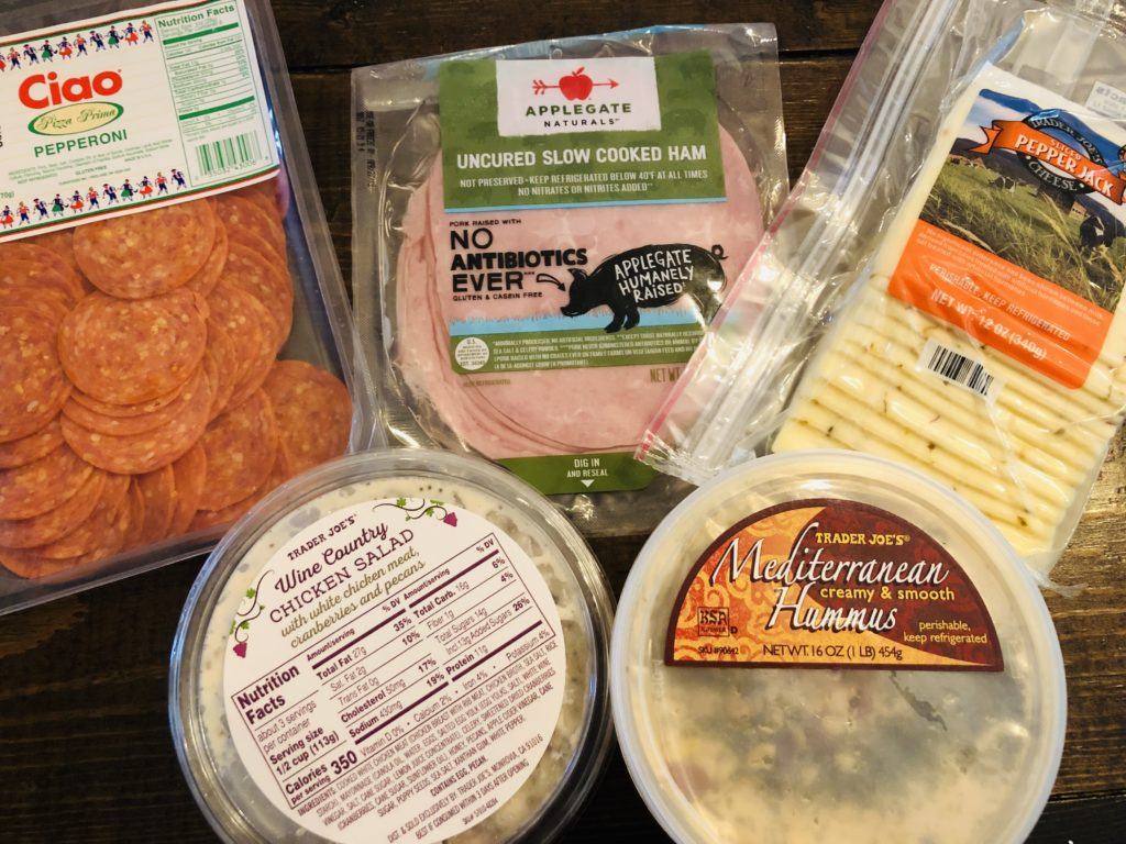 Trader Joes lunch prep groceries