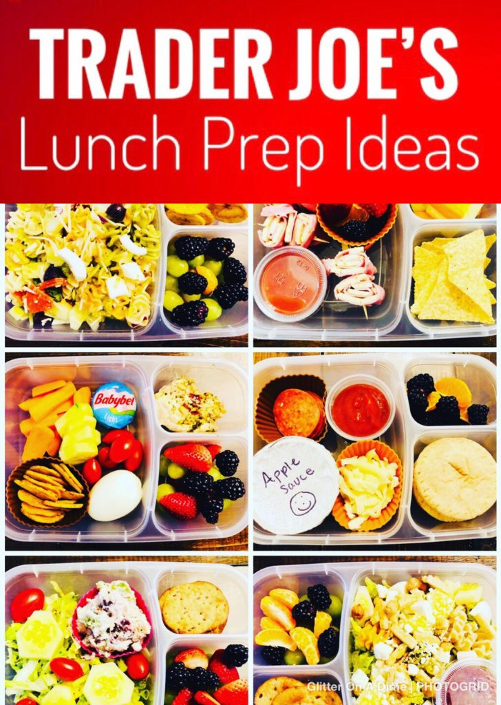 Delcious Trader Joe's Lunch Prep Ideas - make your week go smoother by doing a weekly lunch prep. Here are some fun ideas using all products from Trader Joe's.