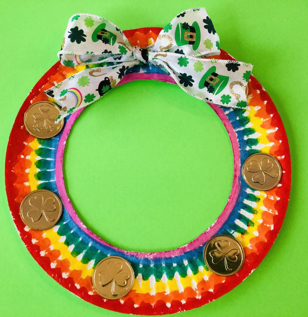 St. Patrick's Day Paper Plate Craft