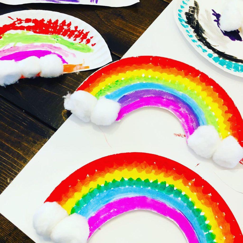 Paper Plate Rainbow Craft