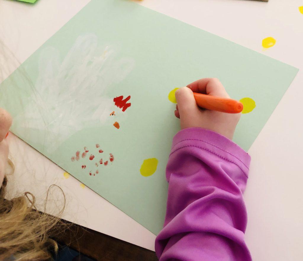 Spring Chick Craft using Kwik Stix Paint