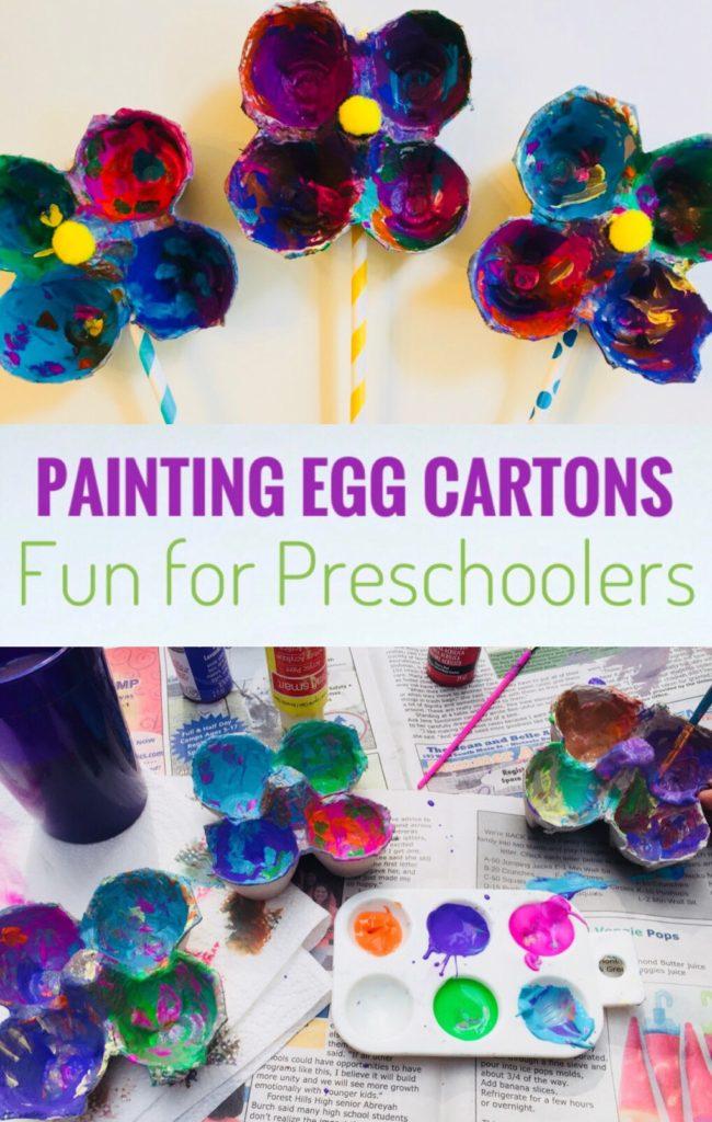 Painting Egg Cartons - Fun Art Activity for Preschoolers