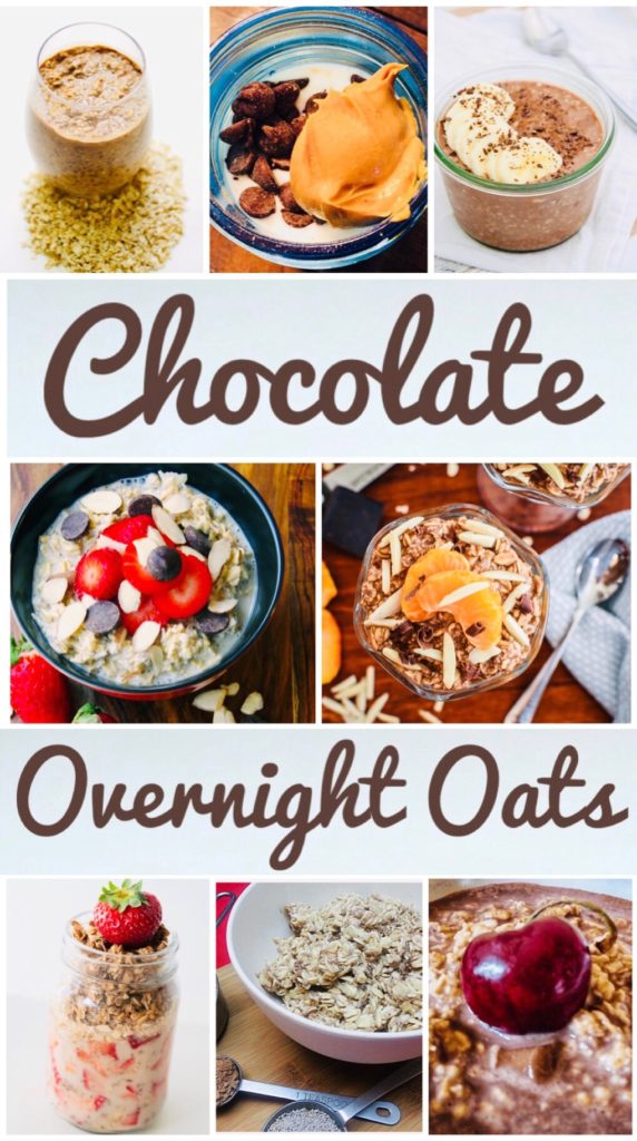 Chocolate Overnight Oats for Breakfast - delicious recipes for a great start to your day! Very easy to prep for an easy morning.