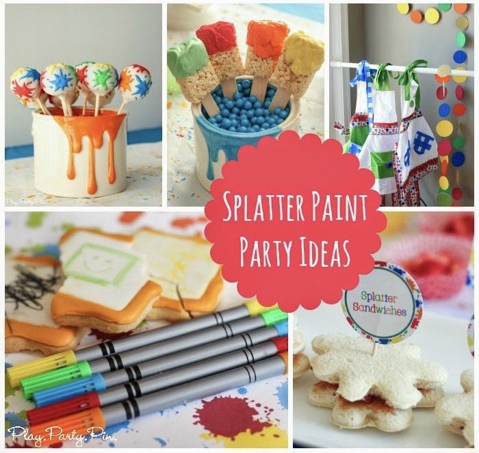 Splatter Paint Party Ideas