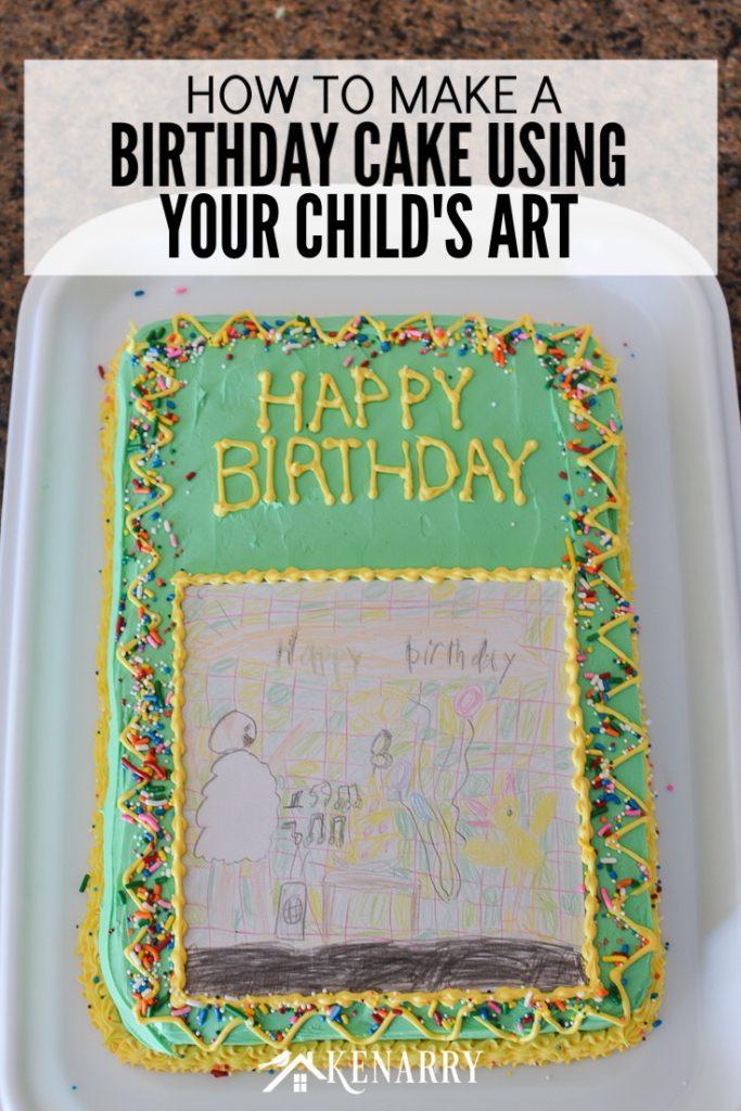 Birthday Cake Using Artwork