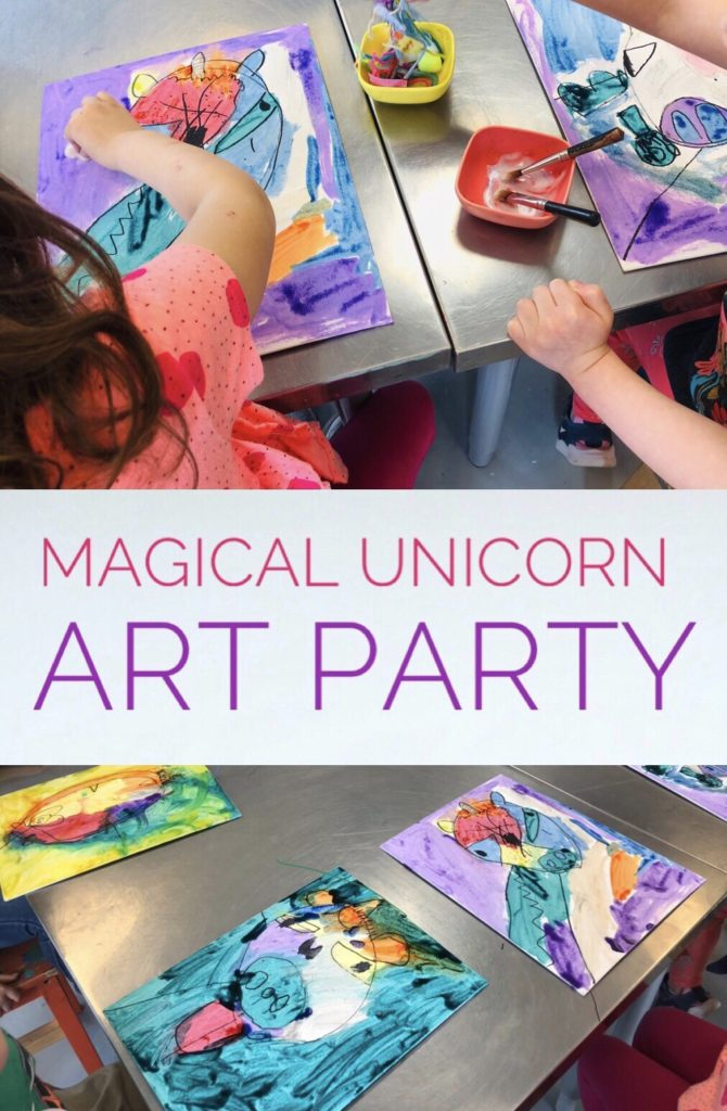 Magical Unicorn Art Party for Kids Birthday