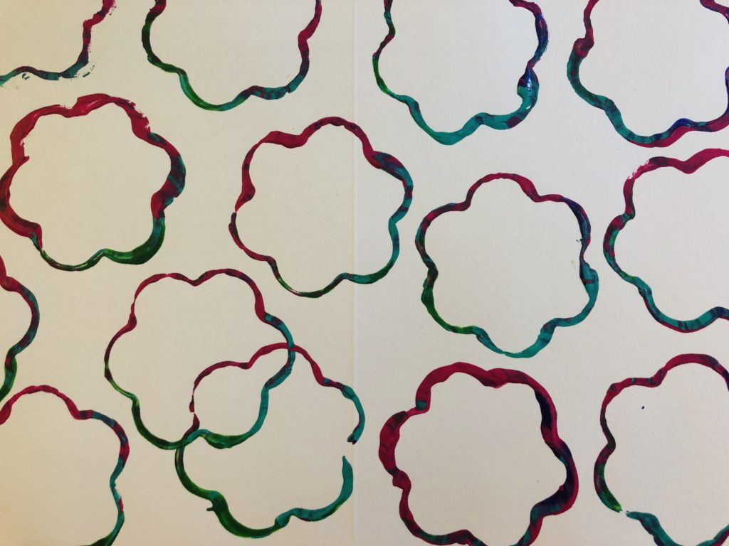 Cookie Cutter Flower Painting