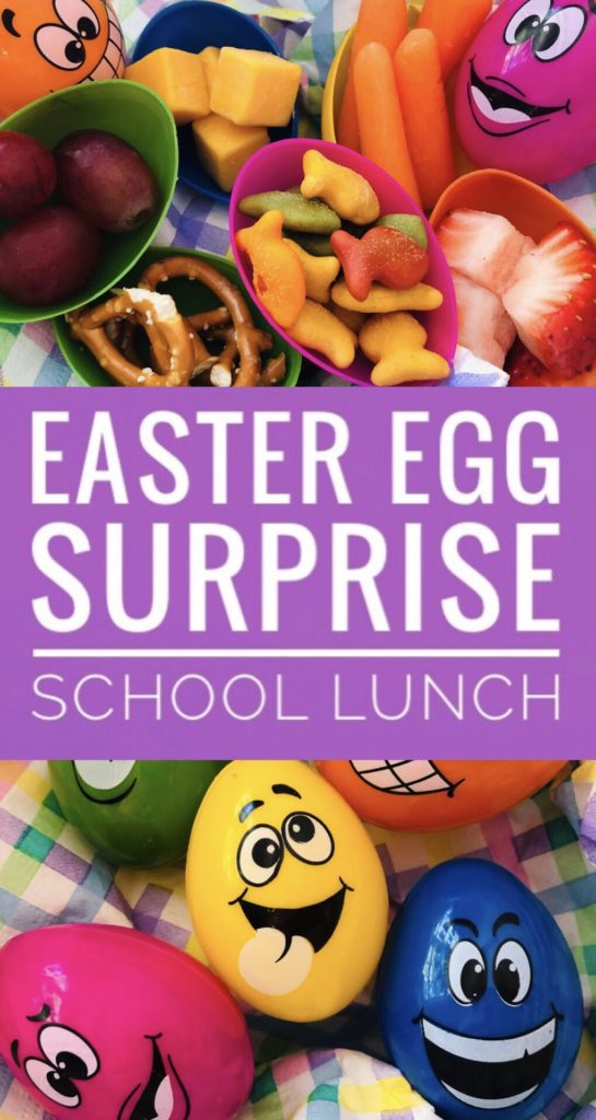 Easter Egg Surprise School Lunch - fun lunchbox surprise for the kids! Fill plastic eggs with some of their favorites.