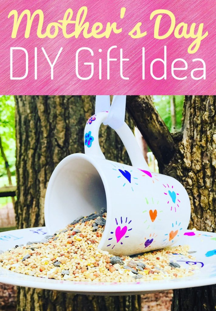 Sharpie Mug Bird Feeder DIY Gift for Mother's Day or Teacher Appreciation