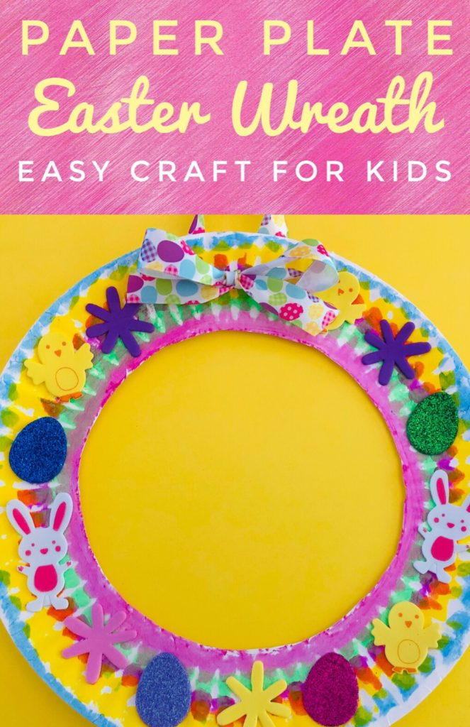 Paper Plate Easter Wreath Craft for Kids