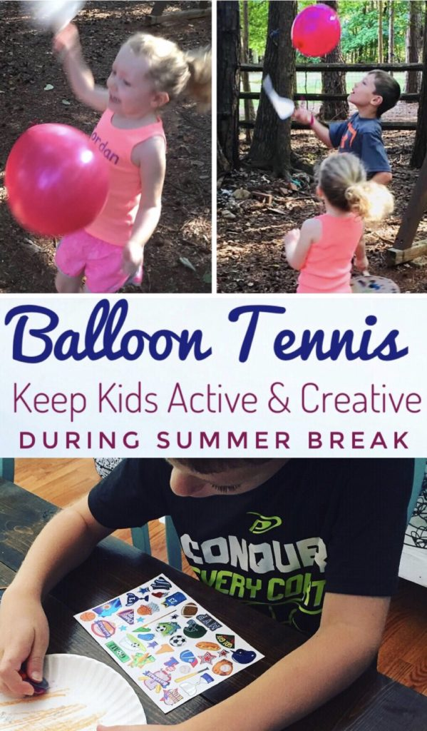 Keep the kids creative and active this summer with this easy Balloon Tennis Activity.